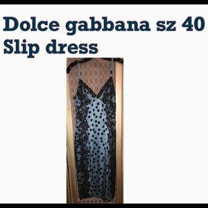 Dolce gabbana silk slip dress sz 40